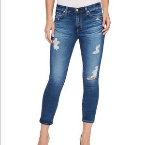 AG Adriano Goldschmied Prima Crop Mid Rise Jeans